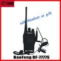Hot BF777s Walkie Talkie 5 W 16CH UHF BF 777 S Transmissor Transceptor BaoFeng BF-777 Comunicador de Rádio Portátil com fone de ouvido