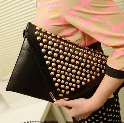 Designer Womens Clutch Bags 2017 For Evening Parties Rivet Women Vintage Envelope Bag Purple Crossbody Leather Purse In Clutches From Luggage
