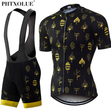 Phtxolue Cycling Sets Cycling Clothing Bike Clothing/Breathable Quick Dry Men Bicycle Wear Short Sleeve Cycling Jerseys sets