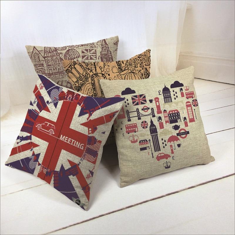 2015 New Linen View Print Cushion Home Sofa Car Decorative Pillow Decor Pillows