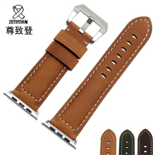 UYOUNG watchband 22mm 24mm quality genuine leather strap For iwatch band 38mm 42mm