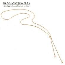 Neoglory, Модное Длинное Бохо Макси золотое ожерелье, подвески для женщин, очаровательное массивное ювелирное изделие, подарок, лучшие подружки, новинка, Simp-j