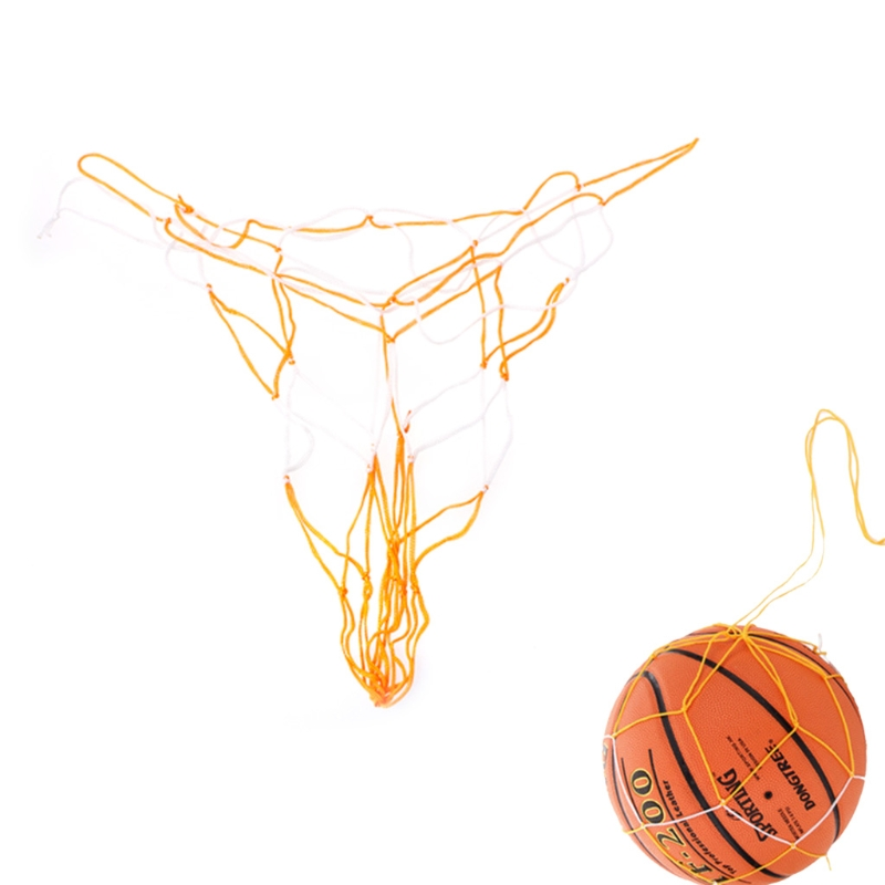 Basketball Hoop Mesh Net Rim Accessory Nylon Ball Catcher Yellow Blue Mix Color useful