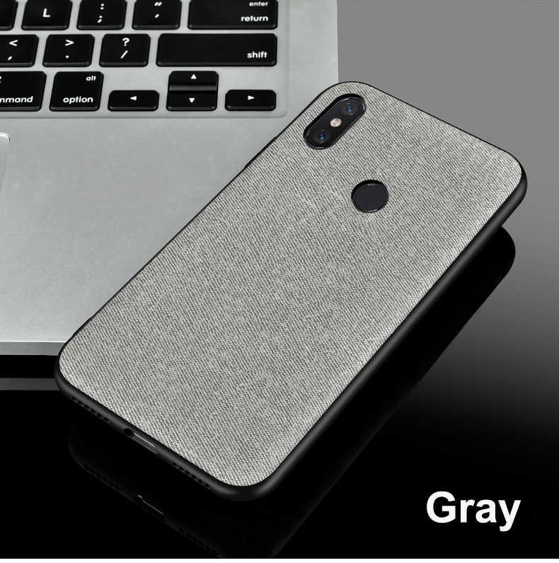 Xiaomi redmi note s2 y2 5a 6a 5 6 7 pro mi a2 a1 6x5x9 8 lite mi x 2 2 s note 3 случае ткань матовая бампер Задняя Крышка Случаях