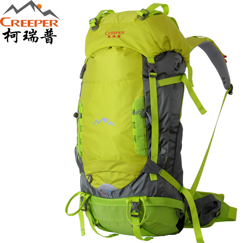 Creeper camping Backpack 2017  Nylon outdoor mountaineering sports travel backpack men and women travel outdoor equipment 50+5L creeper 3920 outdoor nylon mountaineering backpack bag red black 50l