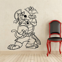 Scooby-Doo Wall Decal Scooby Doo Pirate with Parrot Vinyl Sticker Nursery home decoration Kids Room wall stickers  30pcs pixar scooby doo 3d