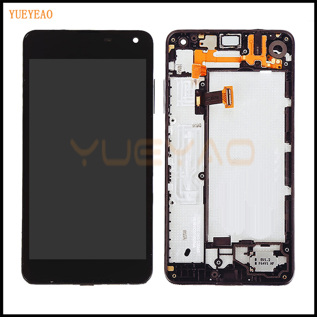 YUEYAO High Quality Replacement For Microsoft Nokia Lumia 650 LCD Display With Touch Screen Digitizer With Frame Assembly yueyao for nokia lumia 925 lcd display touch screen digitizer with bezel frame full assembly replacement parts