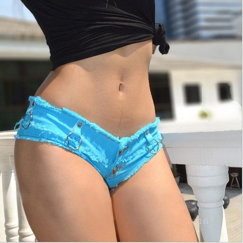 1 stks Dames Sexy jeans denim shorts 2019 Zomer Mode katoen Sexy ijzeren hoepel shorts Dames Skinny super korte denim jonge vrouwen