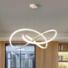 Кофейный и белый черный современный светодиодный подвесной светильник для гостиной, спальни, столовой, подвесной светильник, подвесной светильник, внутреннее освещение D48cm