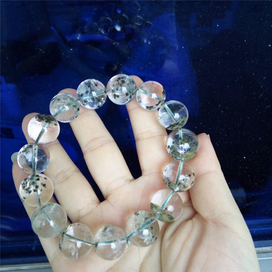 16mm naturel mer océan oursin gemme pierre transparente ronde cristal perles bijoux femmes hommes Stretch Bracelet livraison gratuite