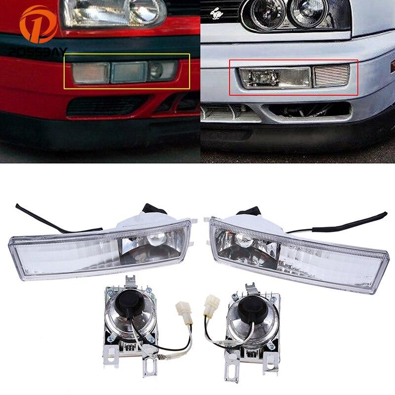 POSSBAY противотуманных фар тяга подходит для 1993-1998 VW Golf моделей автомобилей Туман свет лампы дневного дальнего света автомобильные аксессуар...