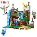 2017 NUEVO 4 en 1 MI MUNDO Minecrafted 378 unids Steve Alex hierro Golem Modelo Zom Kit de Bloques de Construcción Ladrillos de Juguetes Educativos Regalos