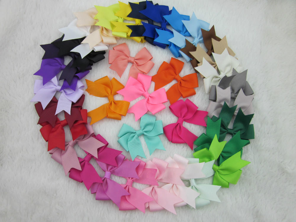 XIMA 3 High Quality Ribbon Baby Girl Boutique Hair Bow With Clip for Children Hair Accessories