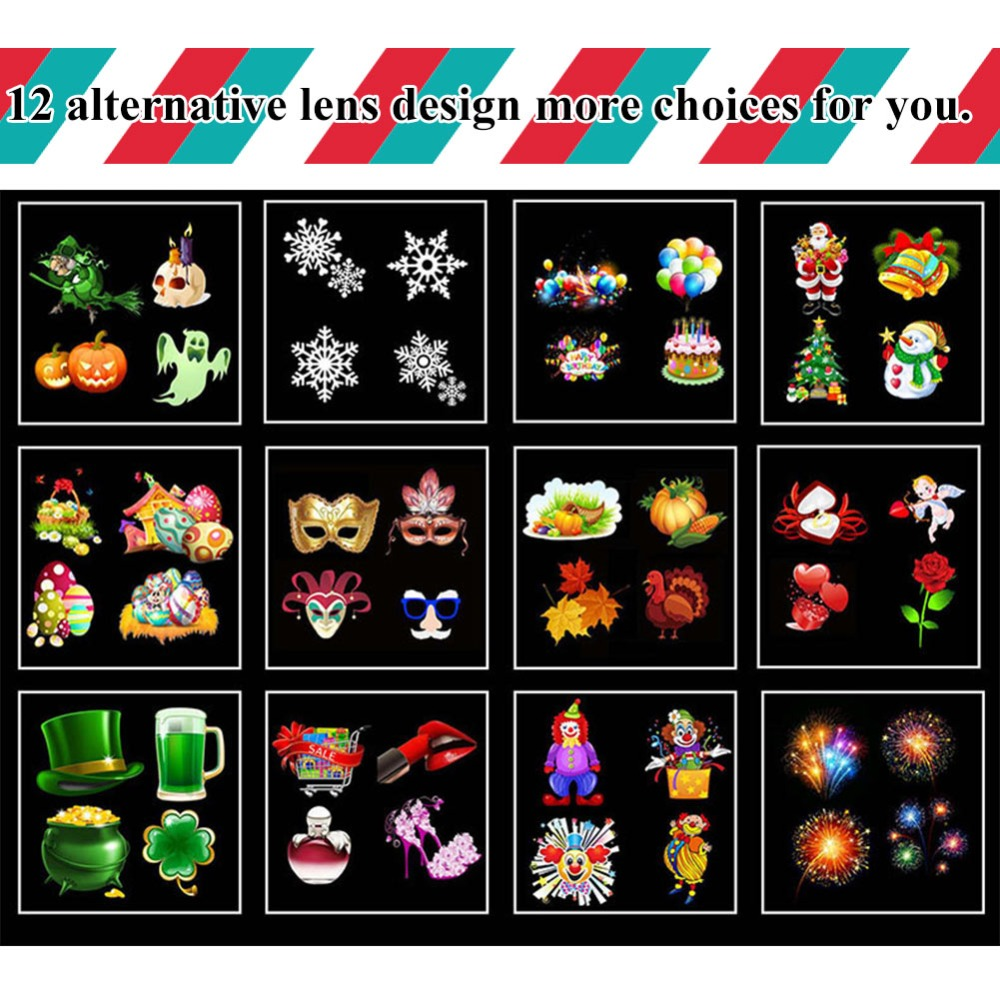 SALE HAPPY New Year's Eve Projector Film Lights Christmas ...