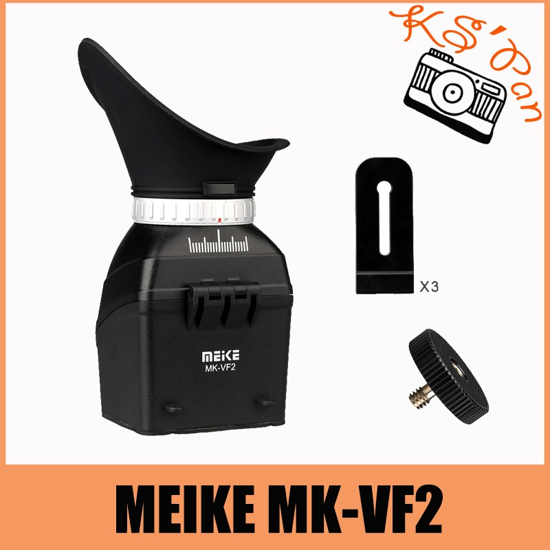 MeiKe MK-VF2 3''~3.2'' LCD Screen Viewfinder for Canon Nikon Fujifilm Olympus DSLR Cameras
