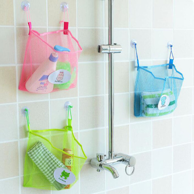 hot grid receive bag kitchen bathroom hang bag kids toy organizer bag bedroom