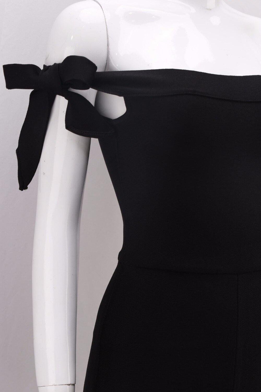 Femmes Salopette Nouvelle Luxe Solide Bandage Cou Mode Slash Hl137 Gros De Manches Sexy 2018 Dropshipping Noir Sans wgqEpFF