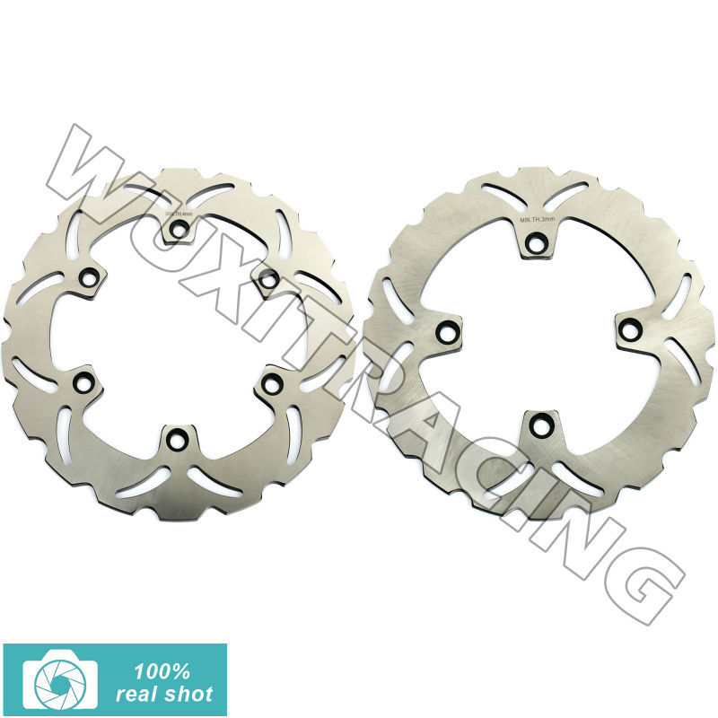 276mm+240mm Full Set Front Rear Brake Discs Rotors for Honda SILVER WING ABS scooter 600 03 04 05 06 07 XLV TRANSALP 600 91-96 full set 3pcs motorcycle new black gold 320mm 220mm front rear brake discs rotors rotor for yamaha yzf r1 2004 2005 2006 04 06