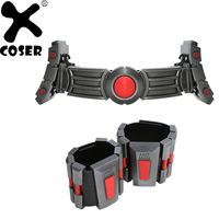 XCOSER Ant Man Cosplay Belt Updated Resin Belt And Wristguard Superhero Cosplay Props for Halloween Costumes with Led Lights