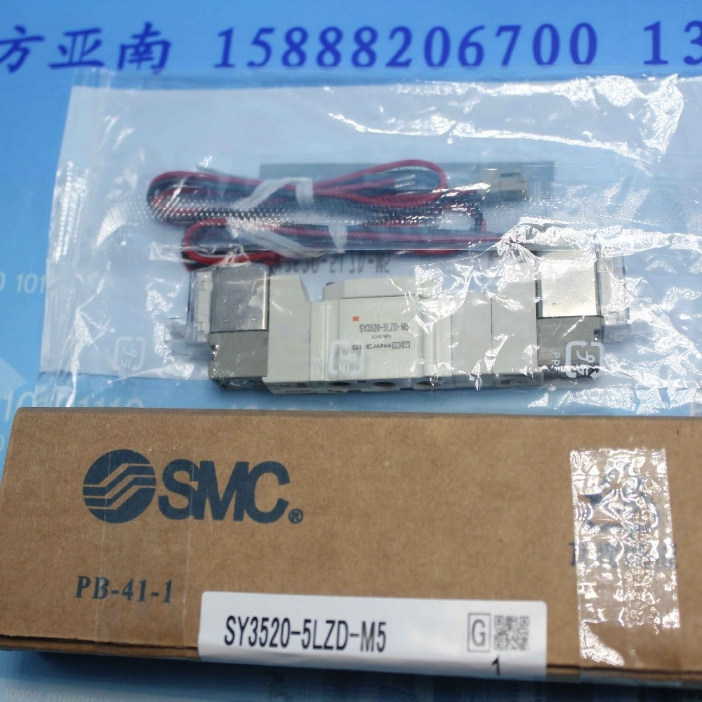SY3520-5LZD-M5 SMC solenoid valve electromagnetic valve pneumatic component air tools SY3000 series electromagnetic valve m 3sew6u30b 630mg24n9k4 hydraulic valve