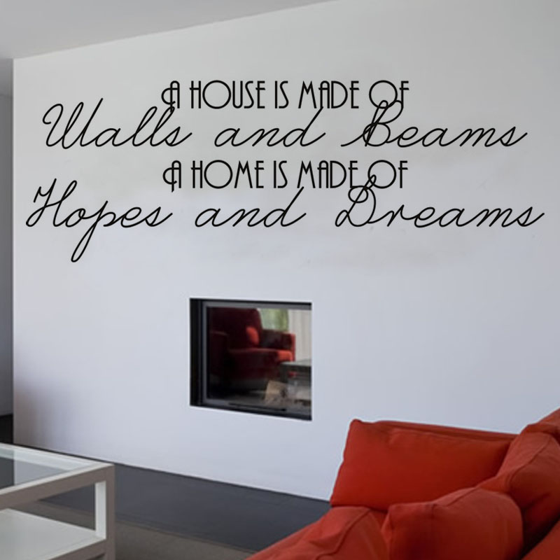 A House Is Made Of Walls And Beams Living Room Art Character Wall