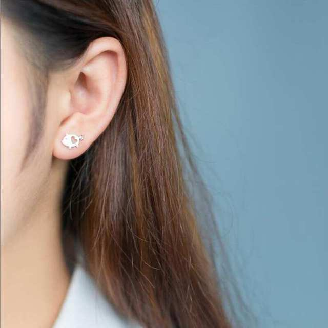 Pepa Heart Pig Stud Earrings6