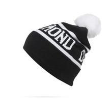 2016 New Winter Diamond Hats Pompon Toucas Sport Caps Mens Hat Knitted Beanie For Men And Women Bonnet Skullies & Beanies
