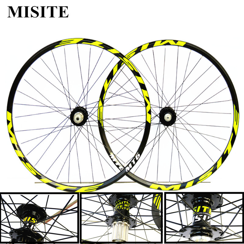26/27.5/29 inch mountain bicycle wheels 8/9/10/11 speed front 2 rear 4 bearing Aluminum Alloy wheel set disc brake mtb wheels aluminum alloy disc brake 8 9 10 68mm 26 17 42 52mm headset bicycle frame