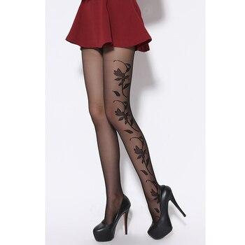 20 Denier Ultra Sheer Summer Black Fashional and Sexy Woman Pattern Jacquard Core-spun Silk Pantyhose Tights Stocking - discount item  19% OFF Women's Socks & Hosiery