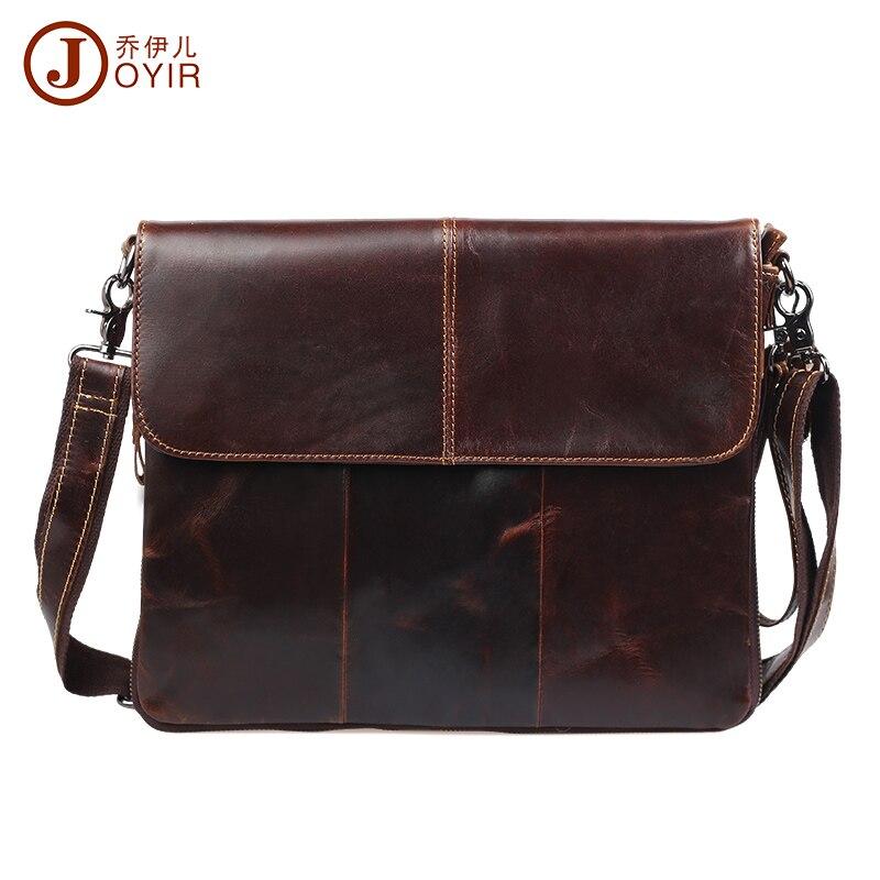2019 nouveau ultra-mince tablette PC naturel en cuir véritable sacs Vintage mode sacs à bandoulière décontracté hommes messenger sacs
