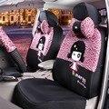 15 UNIDS Four seasons Universal utiliza Lindo cubierta de asiento de coche Universal de la Historieta de Mickey/mono/vaca/fuego/leopardo Accesorios interiores del coche