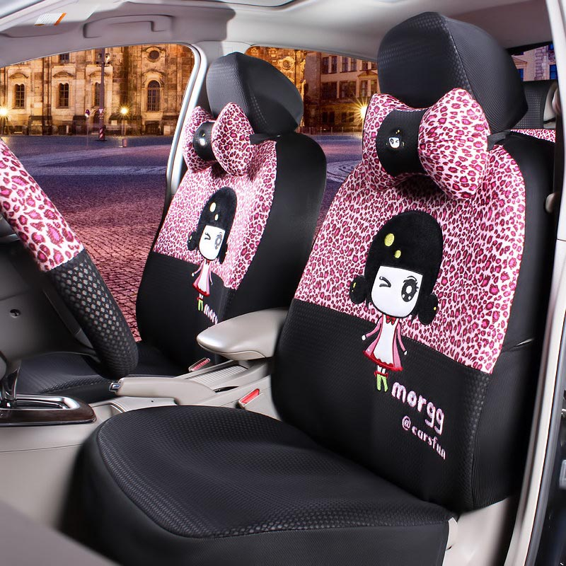 15pcs four seasons universal used cute cartoon universal car seat cover mickey monkey cow fire. Black Bedroom Furniture Sets. Home Design Ideas