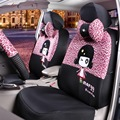 15PCS Four seasons Universal used Cute Cartoon Universal car seat cover Mickey/monkey/cow/fire/Leopard car interior Accessories