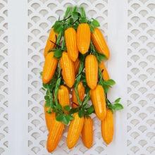 цена на Artificial PU Corn Figurines Simulation Corn Vegetable Model Home Decoration Accessories Miniature Restaurant Ornament Crafts