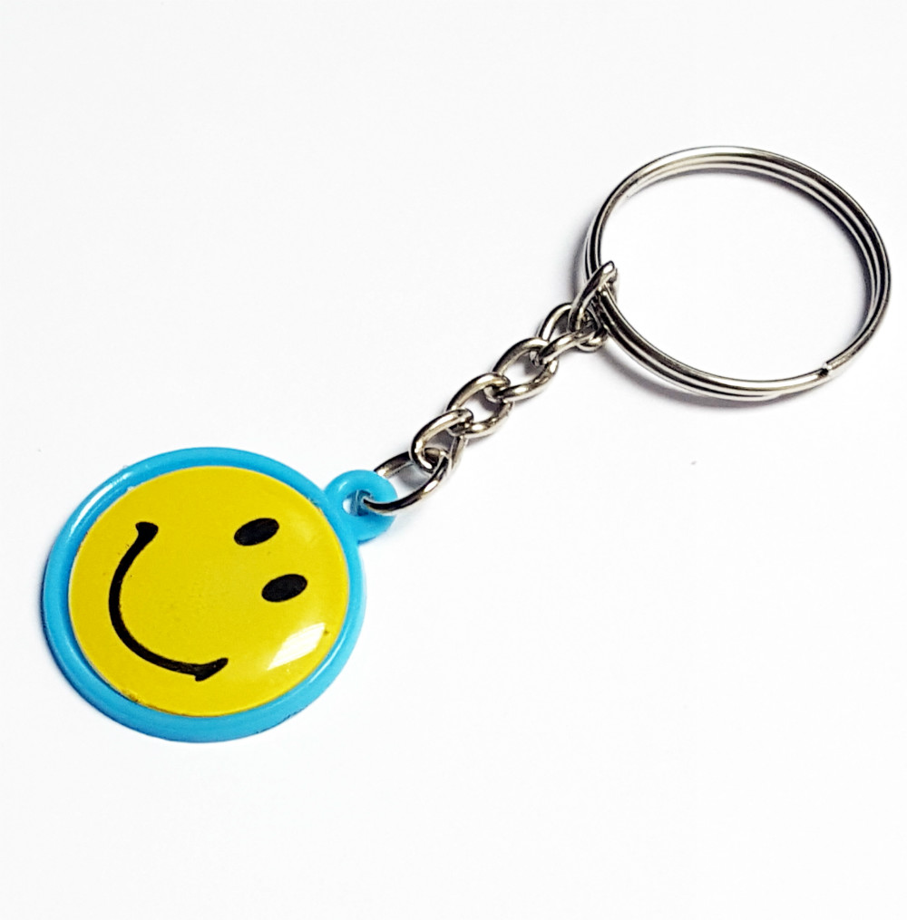 6pc Key Chain smile pendant E357-3 Fashion Favour School Bag Gift Novelty Prize Birthday Party Favors Cup Cake Topper Pinata Bag