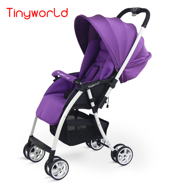 Tinyworld ultra light peso neto sólo 4.3 kg bebé cochecito de niño cochecito doble cochecito de bebé púrpura con tres regalos