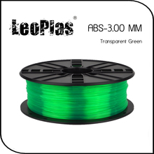 Worldwide Fast Delivery Manufacturer 3D Printer Material 1kg 2.2lb 3mm Transparent Green ABS Filament