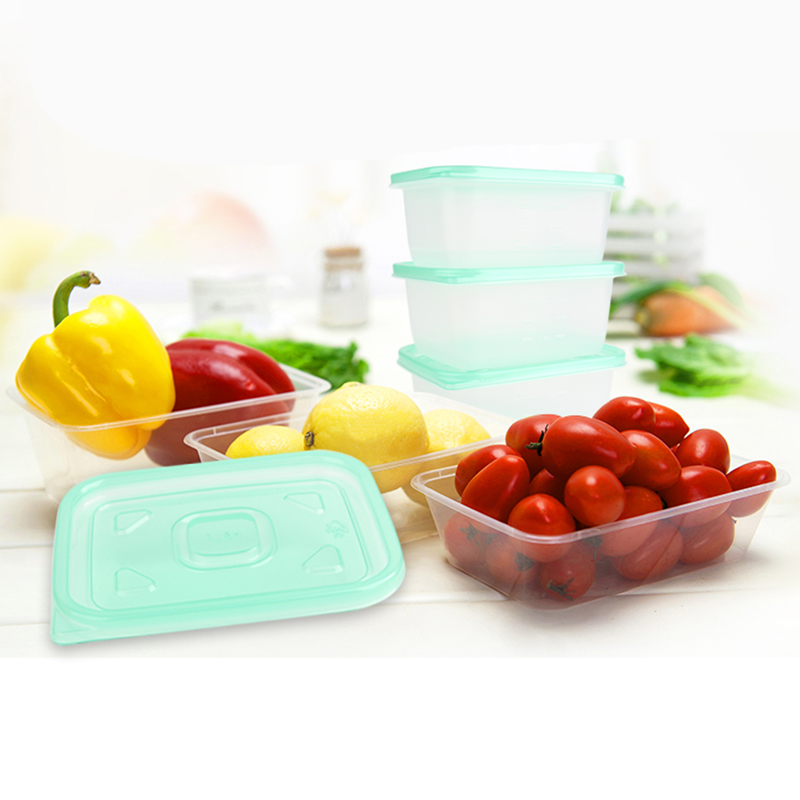 1pc Multi Purpose PP Microwave Boxes Sealed Crisper Kitchen Refrigerator Storage Organizer Bento Lunch Box Food Container