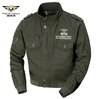 Military Jacket 2019 Spring Autumn Cotton jackets & coats Army Men's slim Jackets Air Force Cargo Jaqueta Plus Pzie M 6XL