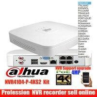 Оригинальный mutil язык dahua Dahua NVR4104-P-4KS2 сетевой видеорегистратор POE 4CH 4PoE 4 K H.265 Smart 1U 8Mp Запись Lite Сетевой Видео Регистраторы