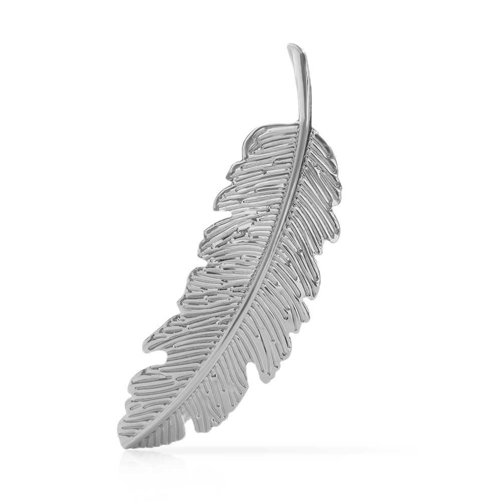 1 шт., Модные металлические заколки для волос в форме листа, заколки для волос с кристаллами и жемчугом, заколка для волос, цветные перьевые Когти для волос, инструмент для укладки волос