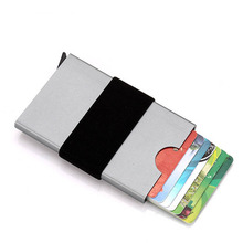 Wholesale Aluminum Rfid Card Holder Case Automatic Pop Up Business Men Metal Credit Box ID Wallet