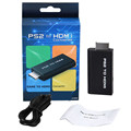 PS2 to HDMI Audio Video Converter Adapter with 3.5mm Stere Audio Output 2016 Hot Sales Free Shipping