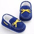 Nueva Llegada de 4 Colores de Algodón Inferior Suave Bebé Prewalker Para Niños Niñas Primeros Caminante Newborn Infant Toddler Zapatos Mocasines