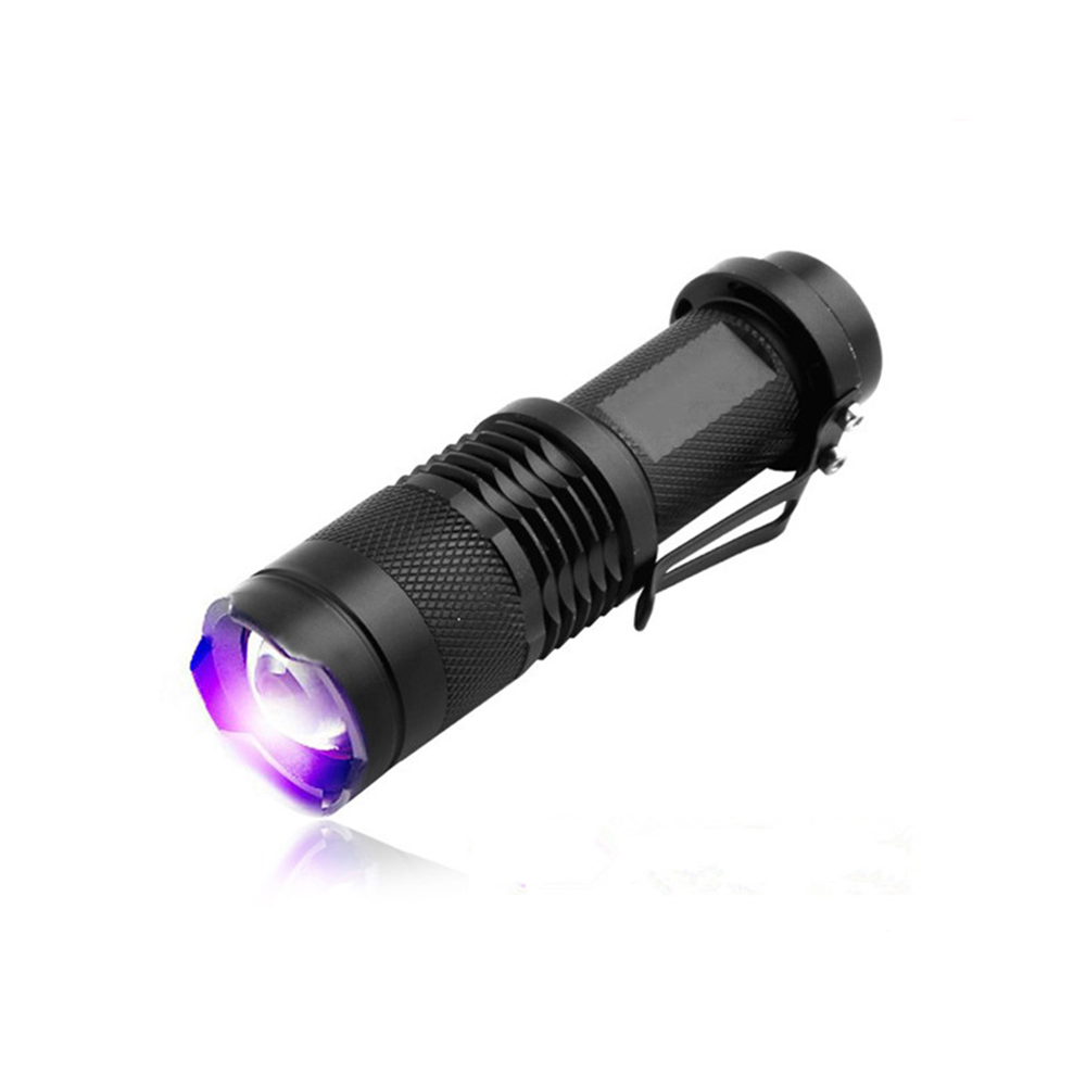 3 Watts 365nm UV LED Flashlight Fluorescent Ultraviolet Lampe , 395nm Blacklight MINI Zoomable LED Torch For UV Curing Resin