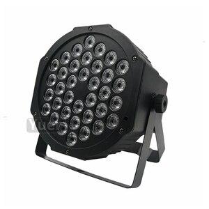 Image 2 - 10 sztuk/partia LED płaskie Par 36x3W RGB 3w1 oświetlenie profesjonalne LED etap światła efekt DMX512 Master Slave DJ Disco wesele