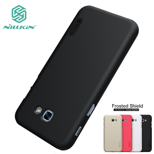 online store 2bc35 e9ac5 US $7.19 10% OFF|For Samsung Galaxy A5 2017 A520 Case NILLKIN High Quality  Super Frosted Shield For Samsung Galaxy A5 2017 Cover -in Half-wrapped Case  ...