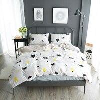 Lai Yin Sun Bedding sets Cat Print 100% cotton twin/double/queen Duvet cover bed sheet Pillows Bedline for Boys/Boyfriend