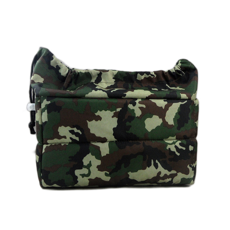 Camouflage Universal Partition Padded Camera Bag Oxford Cloth Insert Lens Protection Case For DSLR SLR Camera