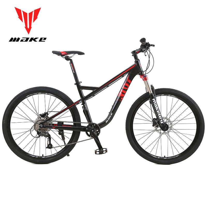 """MAKE горный велосипед Алюминиевый 19 """"рама Shimano 27 скорость 27,5"""" колеса гидравлический дисковый тормоз"""